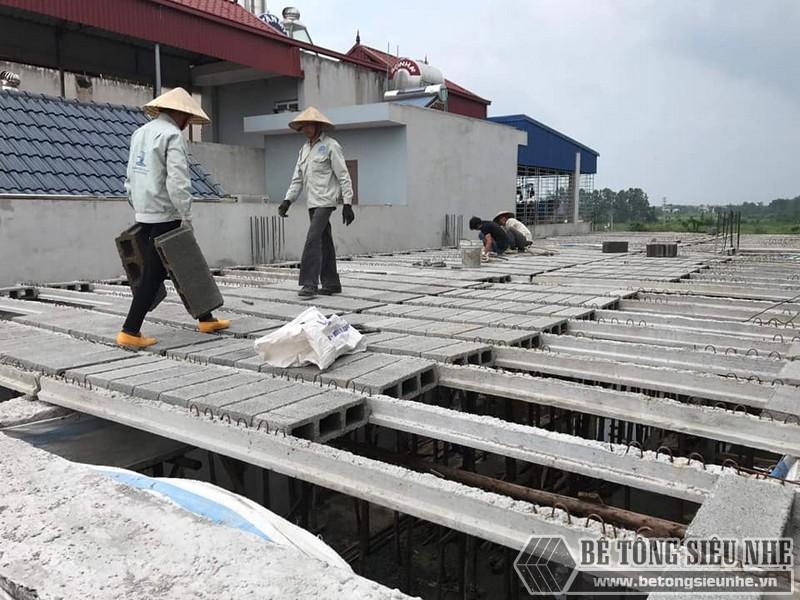Sàn bê tông nhẹ thi công tại nhà anh Liêm, Thạch Thất, Hà Nội - 02