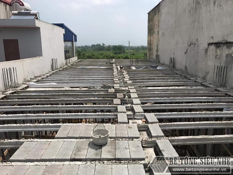Sàn bê tông nhẹ thi công tại nhà anh Liêm, Thạch Thất, Hà Nội - 03