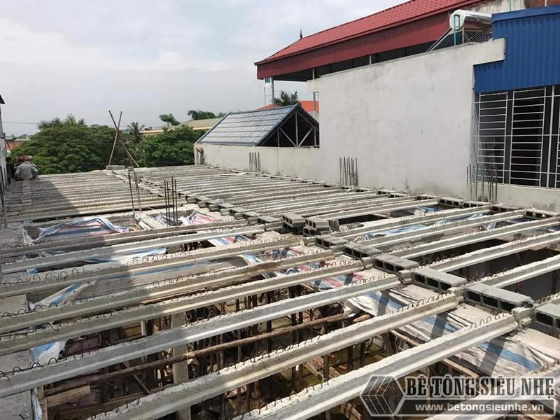 Sàn bê tông nhẹ thi công tại nhà anh Liêm, Thạch Thất, Hà Nội - 04