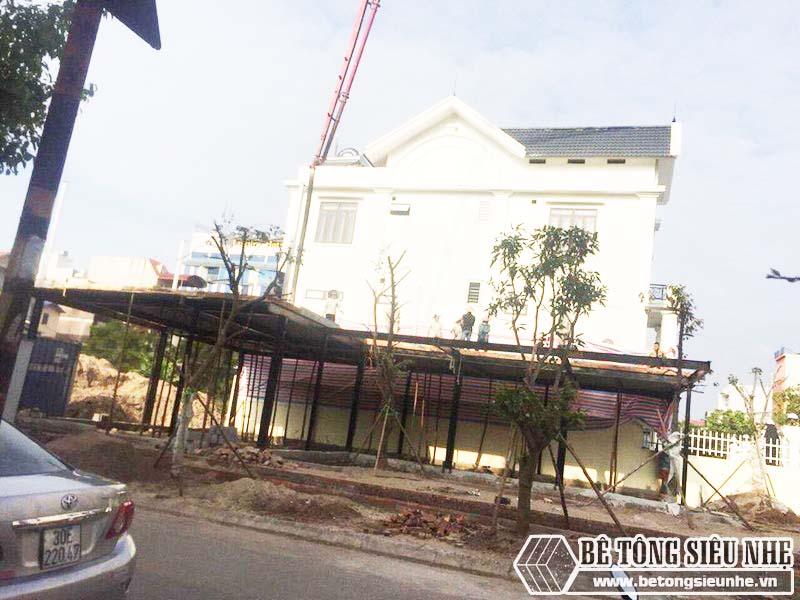 Thi công hệ khung thép tiền chế và sàn bê tông nhẹ tại Thanh Trì, Hà Nội nhà anh Mong - 04