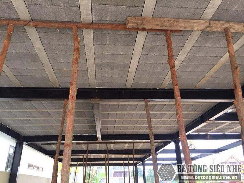 Thi công hệ khung thép tiền chế và sàn bê tông nhẹ tại Thanh Trì, Hà Nội nhà anh Mong - 05