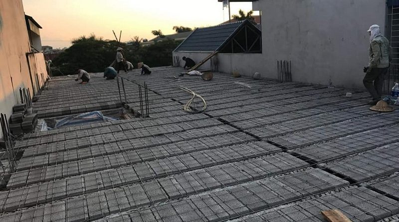 Làm sàn bê tông nhẹ giảm thiểu được việc sử dụng vật liệu rời
