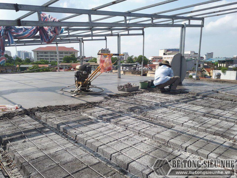 Cấu tạo sàn bê tông nhẹ rất đơn giản, dễ thi công