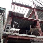 Xây nhà bằng khung thép tiền chế và sàn bê tông nhẹ nhà anh Hải, Thanh Trì, Hà Nội