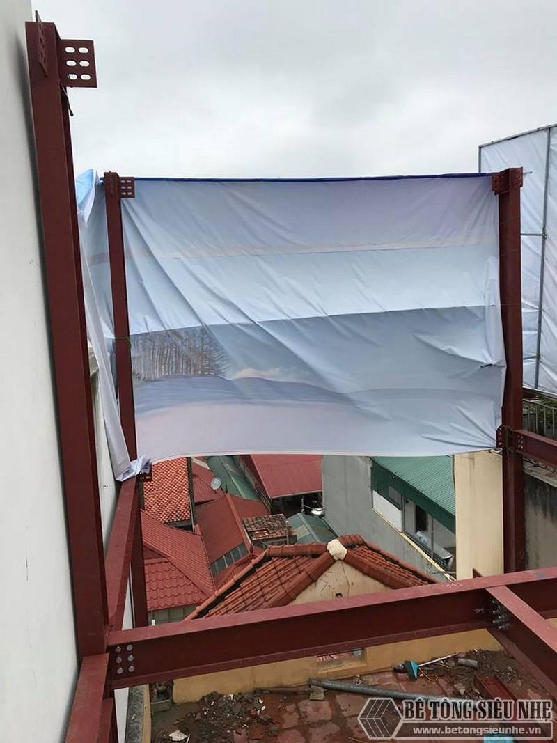 Thi công khung thép tiền chế để nâng tầng cho nhà anh Hiệu, Hoàng Mai, Hà Nội - 02