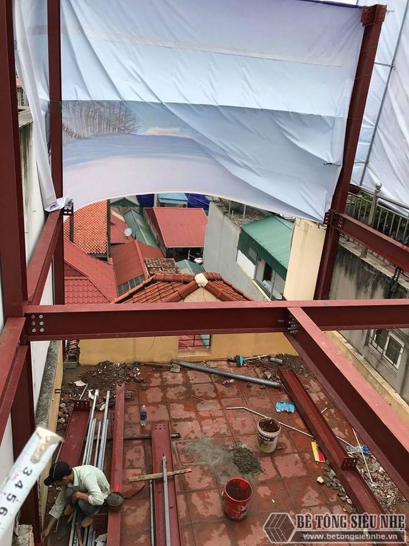 Thi công khung thép tiền chế để nâng tầng cho nhà anh Hiệu, Hoàng Mai, Hà Nội - 04