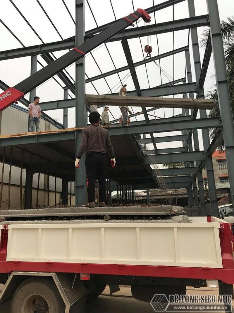 Lắp dựng nhà khung thép, thi công sàn bê tông nhẹ tại Thanh Trì, Hà Nội - 02
