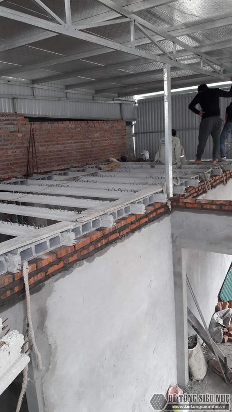Sử dụng sàn bê tông nhẹ cải tạo mái tôn thành nhà trần tại Cầu giấy, Hà Nội - 04