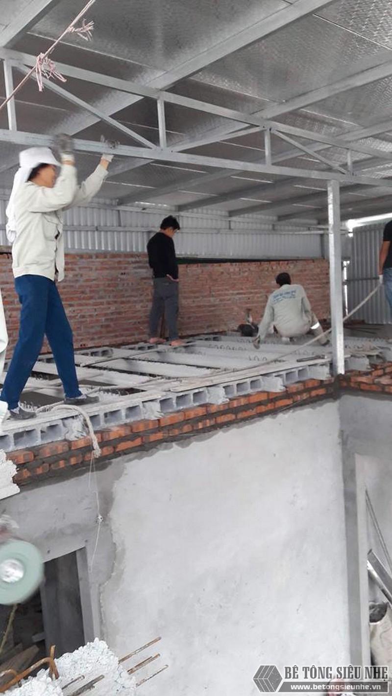 Sử dụng sàn bê tông nhẹ cải tạo mái tôn thành nhà trần tại Cầu giấy, Hà Nội - 05