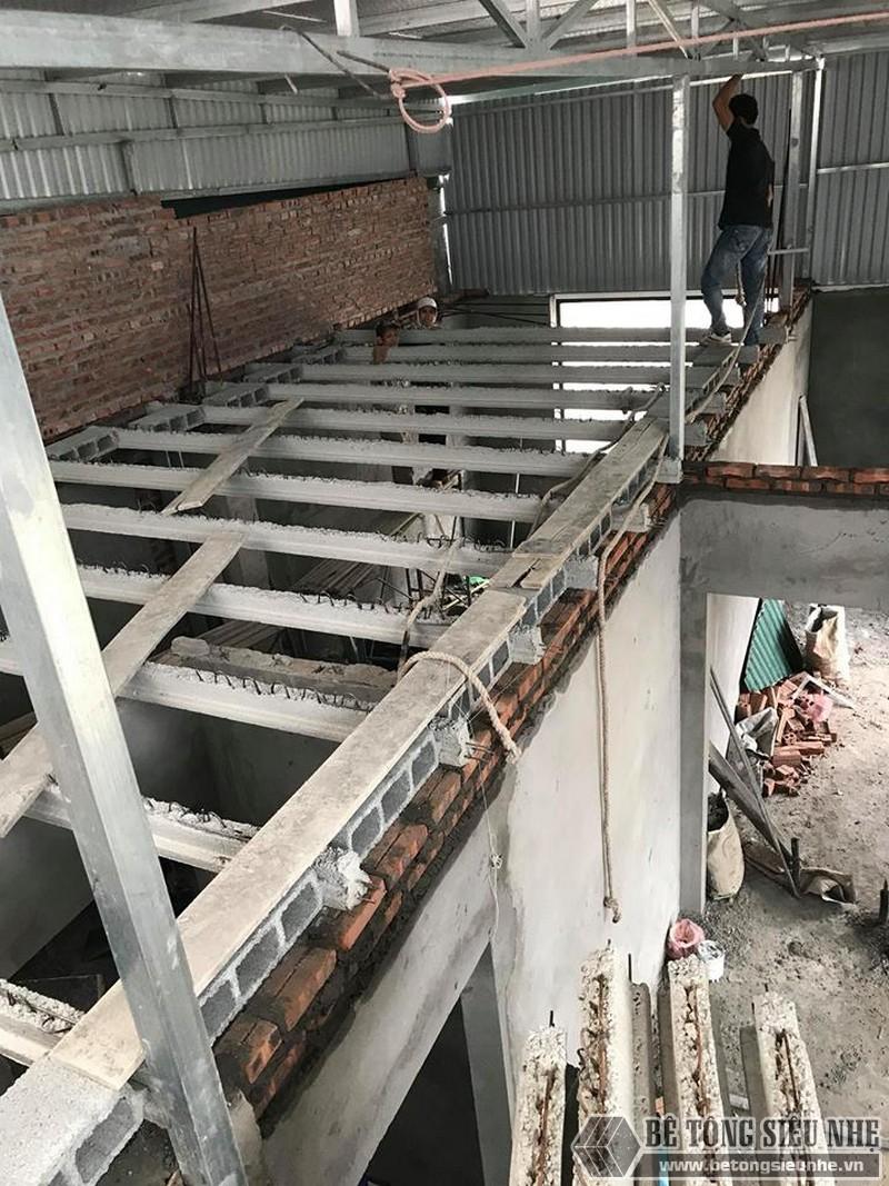 Sử dụng sàn bê tông nhẹ cải tạo mái tôn thành nhà trần tại Cầu giấy, Hà Nội - 06