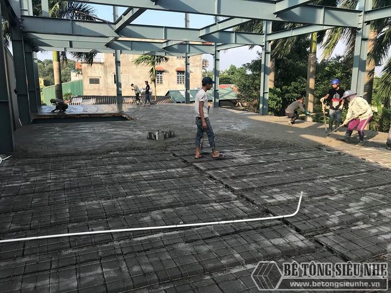 Hoàn thiện sàn bê tông nhẹ nhà anh Hoàn, Thanh Trì, Hà Nội - 05