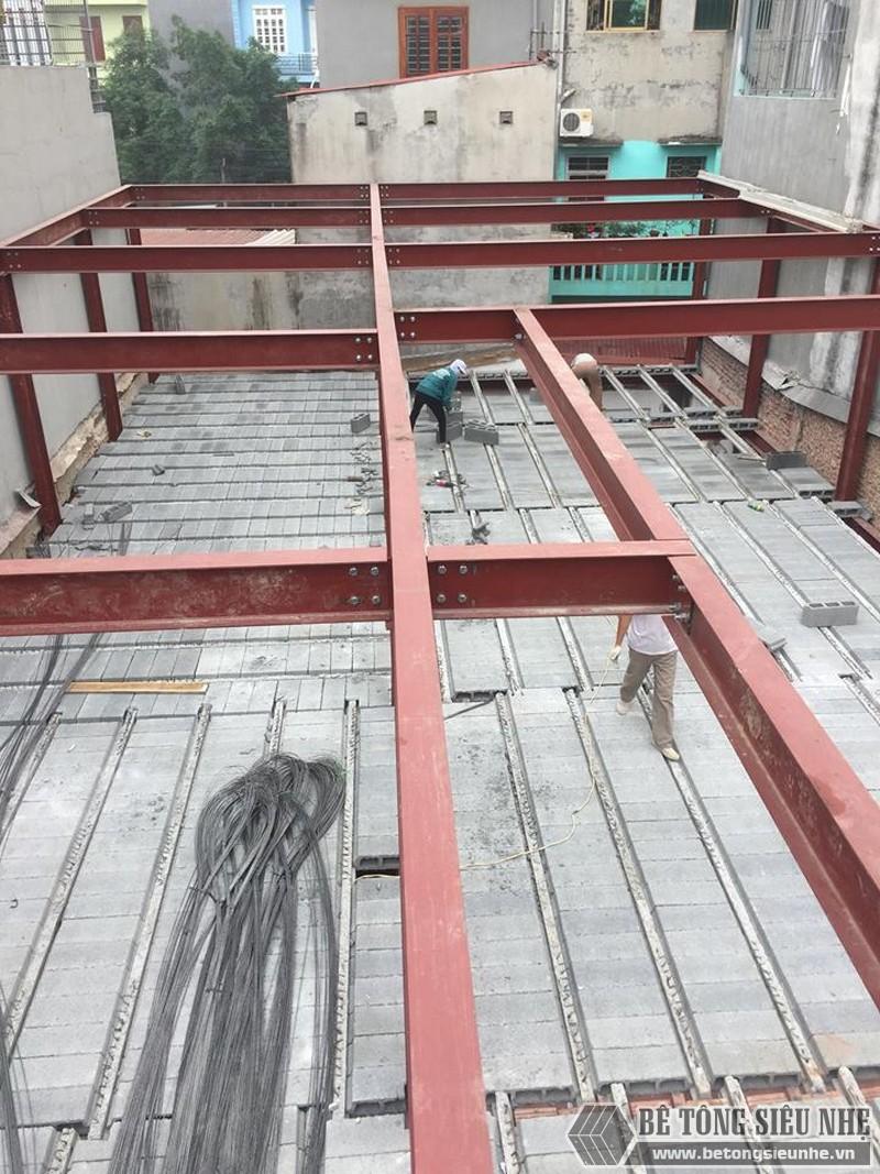 Nhà khung thép , sàn bê tông nhẹ tiết kiệm chi phí, chống nóng, chống ồn tốt