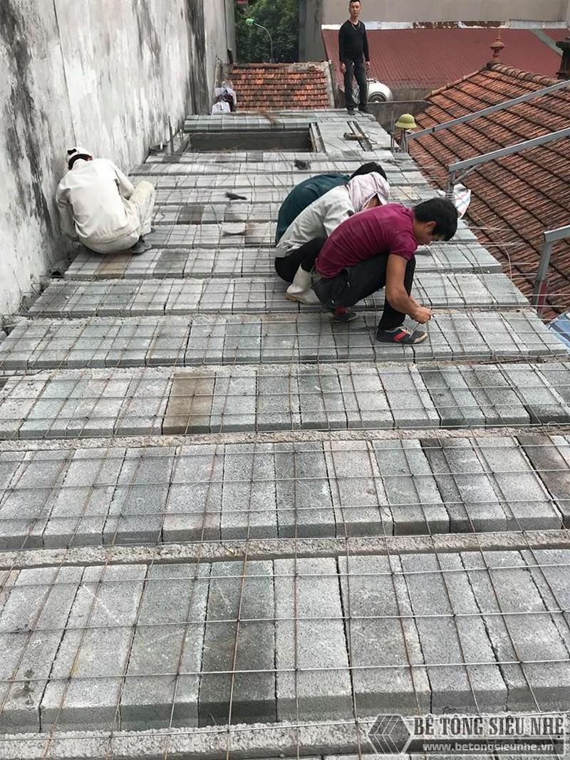 Xây nhà 2 tầng bằng sàn bê tông nhẹ giá siêu rẻ tại Thạch Thất, Hà Nội- 04
