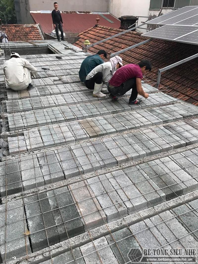 Xây nhà 2 tầng bằng sàn bê tông nhẹ giá siêu rẻ tại Thạch Thất, Hà Nội- 06