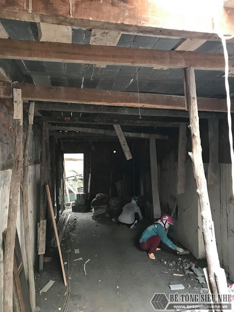 Xây nhà 2 tầng bằng sàn bê tông nhẹ giá siêu rẻ tại Thạch Thất, Hà Nội- 08