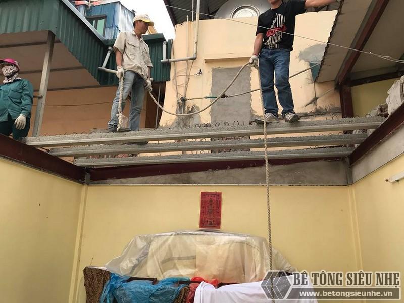 Làm sàn bê tông nhẹ cải tạo nhà cấp 4 thành nhà trần giá siêu rẻ tại Từ Liêm, Hà Nội - 01