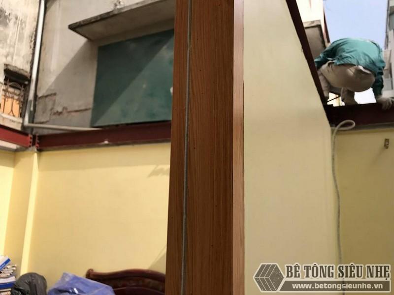 Làm sàn bê tông nhẹ cải tạo nhà cấp 4 thành nhà trần giá siêu rẻ tại Từ Liêm, Hà Nội