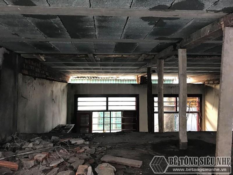 Mặt sàn bê tông nhẹ sau lắp ghép bằng phẳng hơn rất nhiều sàn bê tông truyền thống