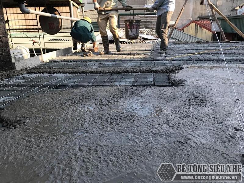 Làm sàn bê tông nhẹ cải tạo nhà cấp 4 thành nhà trần giá siêu rẻ tại Từ Liêm, Hà Nội - 04