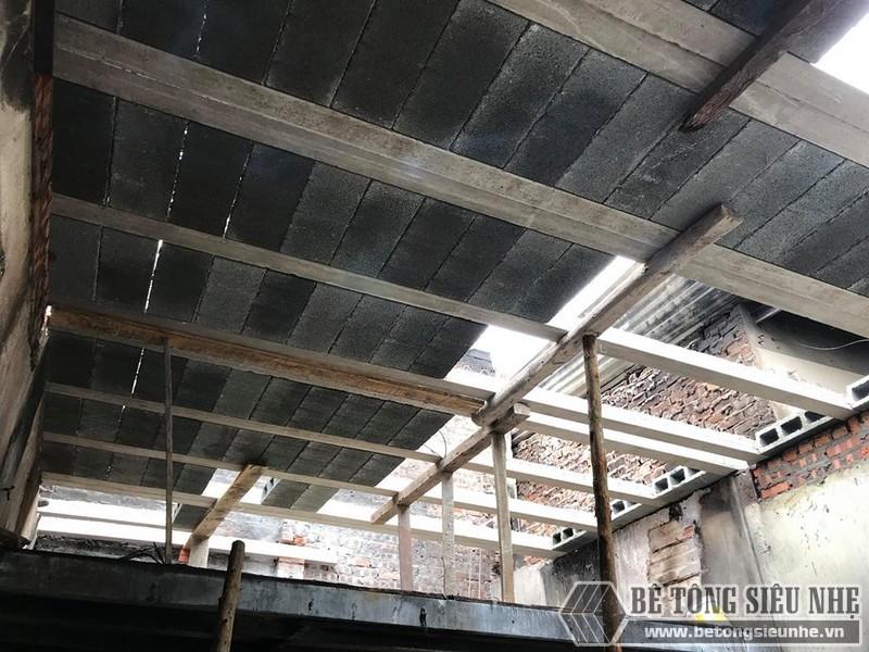 Làm sàn bê tông nhẹ cải tạo nhà cấp 4 thành nhà trần giá siêu rẻ tại Từ Liêm, Hà Nội - 03
