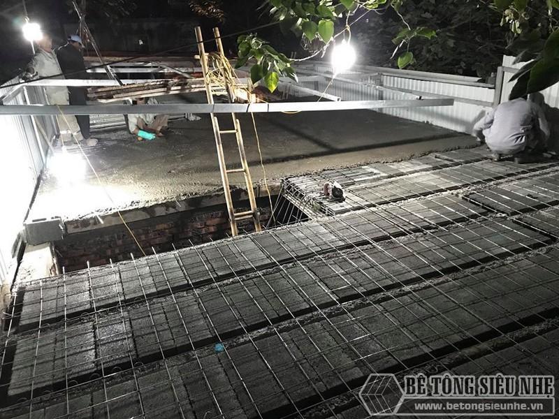 Đổ bê tông tươi tạo mặt sàn như sàn bê tông truyền thống
