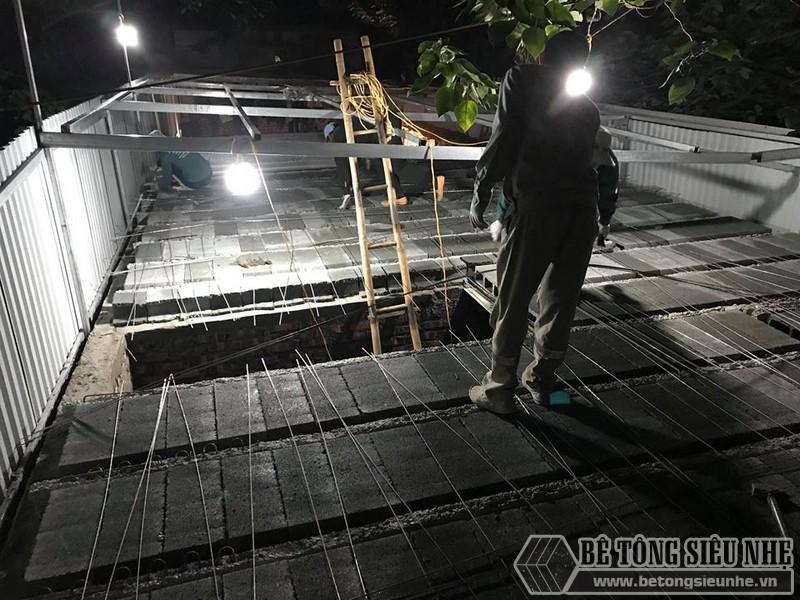 8 giờ hoàn thiện 60m2 sàn bê tông siêu nhẹ tại Hà Đông, Hà Nội - 03