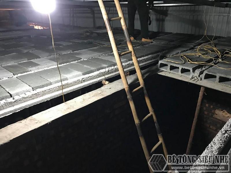 8 giờ hoàn thiện 60m2 sàn bê tông siêu nhẹ tại Hà Đông, Hà Nội - 04