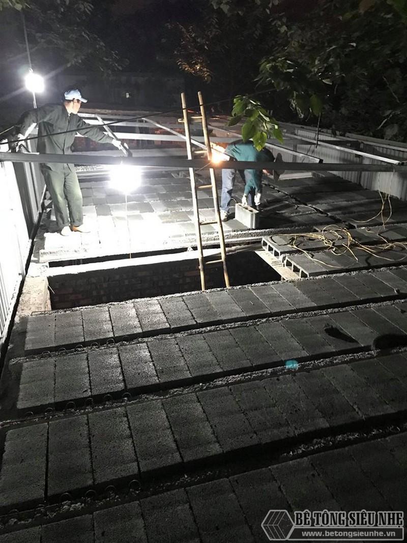 8 giờ hoàn thiện 60m2 sàn bê tông siêu nhẹ tại Hà Đông, Hà Nội - 05