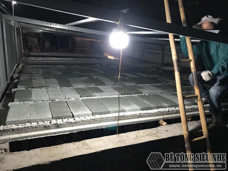 8 giờ hoàn thiện 60m2 sàn bê tông siêu nhẹ tại Hà Đông, Hà Nội - 06