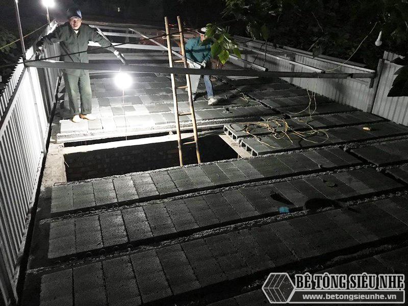 8 giờ hoàn thiện 60m2 sàn bê tông siêu nhẹ tại Hà Đông, Hà Nội - 07