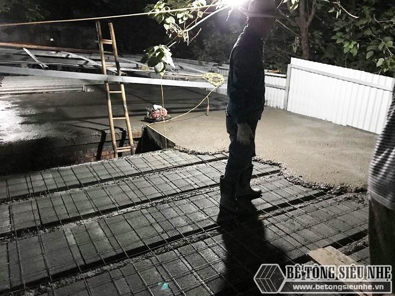 8 giờ hoàn thiện 60m2 sàn bê tông siêu nhẹ tại Hà Đông, Hà Nội - 08