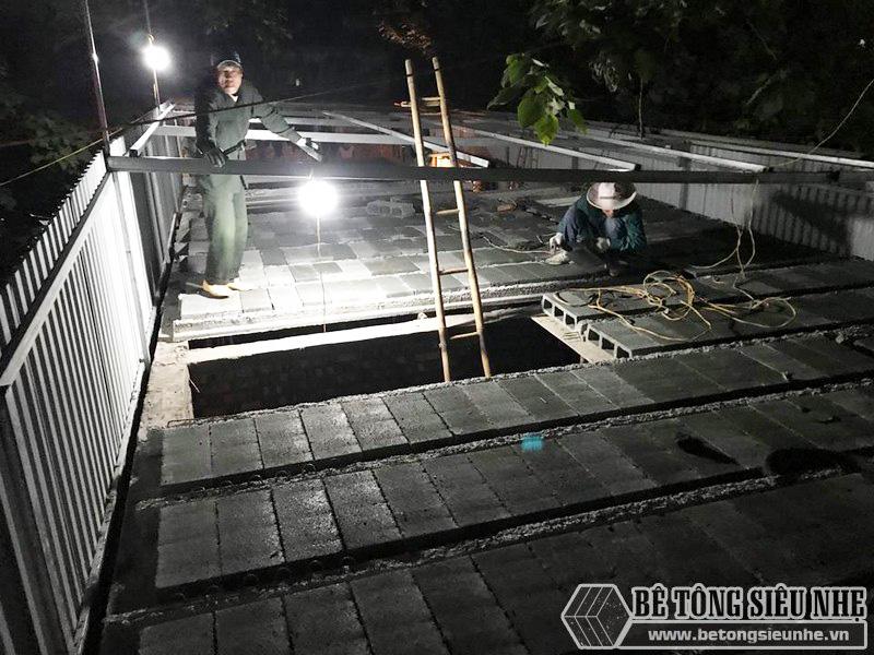 8 giờ hoàn thiện 60m2 sàn bê tông siêu nhẹ tại Hà Đông, Hà Nội - 09