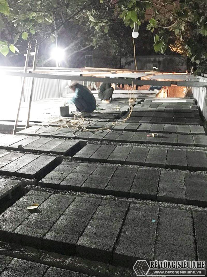 8 giờ hoàn thiện 60m2 sàn bê tông siêu nhẹ tại Hà Đông, Hà Nội - 10