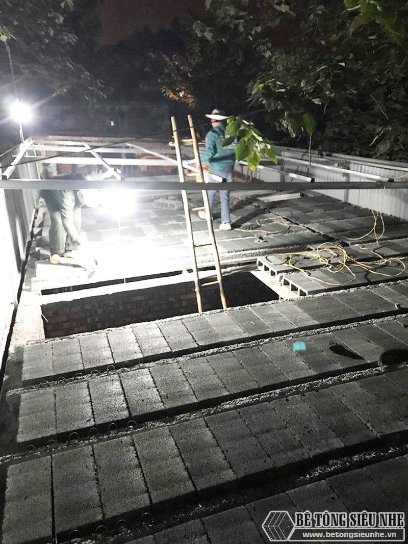 8 giờ hoàn thiện 60m2 sàn bê tông siêu nhẹ tại Hà Đông, Hà Nội - 11