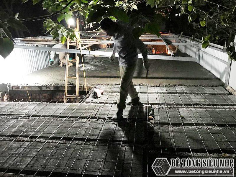 8 giờ hoàn thiện 60m2 sàn bê tông siêu nhẹ tại Hà Đông, Hà Nội - 12