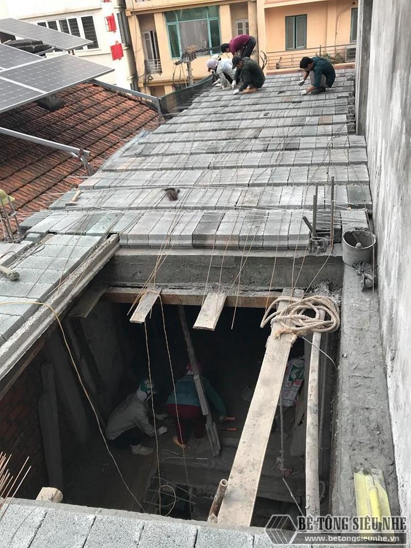 Nhà lắp ghép bằng bê tông nhẹ chỉ sử dụng sàn panel siêu nhẹ