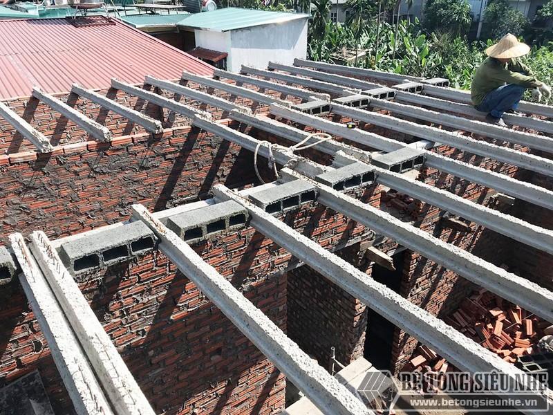 Công trình nâng tầng bằng bê tông siêu nhẹ nhà chị Hoài, Phú Diễn, Bắc Từ Liêm, Hà Nội - 02