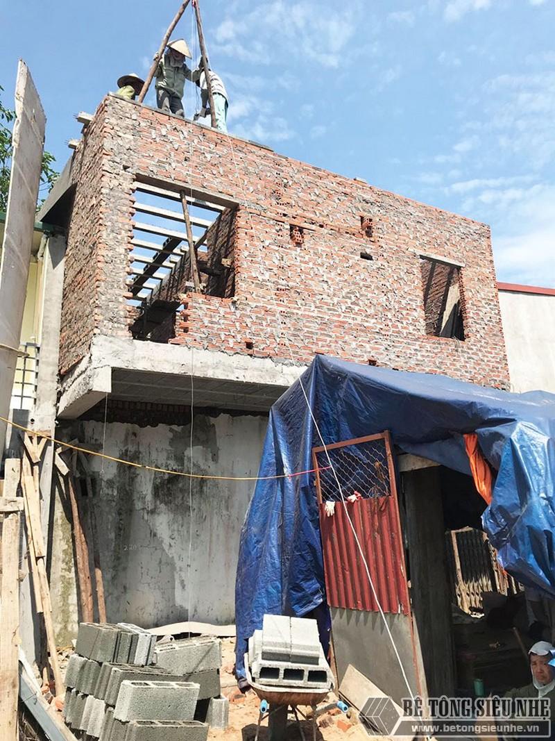 Công trình nâng tầng bằng bê tông siêu nhẹ nhà chị Hoài, Phú Diễn, Bắc Từ Liêm, Hà Nội - 01