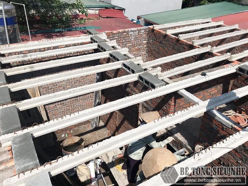 Công trình nâng tầng bằng bê tông siêu nhẹ nhà chị Hoài, Phú Diễn, Bắc Từ Liêm, Hà Nội - 03