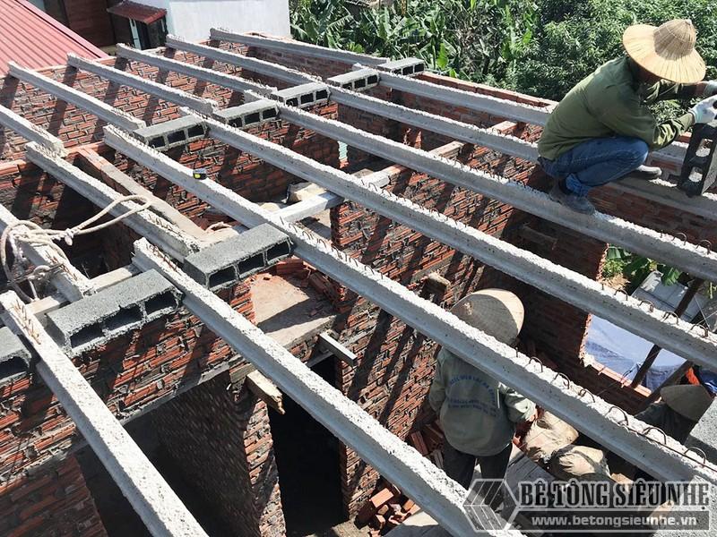 Công trình nâng tầng bằng bê tông siêu nhẹ nhà chị Hoài, Phú Diễn, Bắc Từ Liêm, Hà Nội - 04