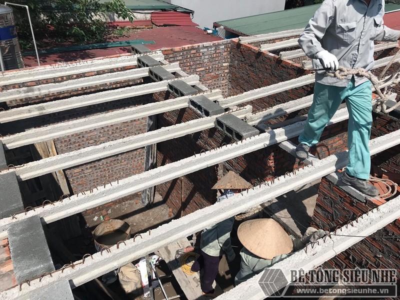 Công trình nâng tầng bằng bê tông siêu nhẹ nhà chị Hoài, Phú Diễn, Bắc Từ Liêm, Hà Nội - 06