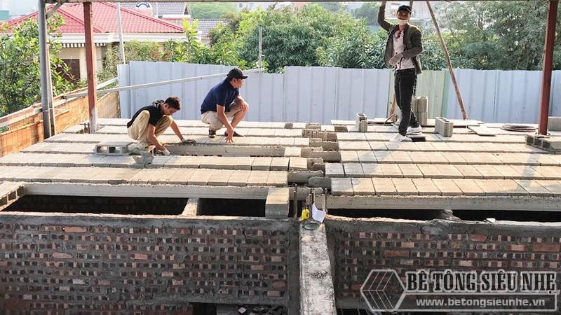 Nâng tầng nhà phố siêu đơn giản với sàn bê tông nhẹ, khung thép tiền chế tại nhà anh Lanh, Ba Đình, Hà Nội - 05
