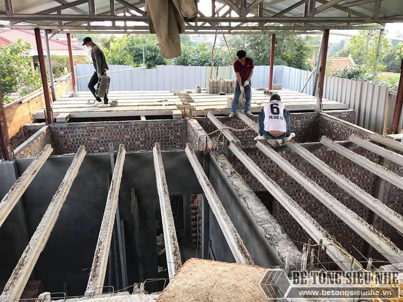 Nâng tầng nhà phố siêu đơn giản với sàn bê tông nhẹ, khung thép tiền chế tại nhà anh Lanh, Ba Đình, Hà Nội - 01