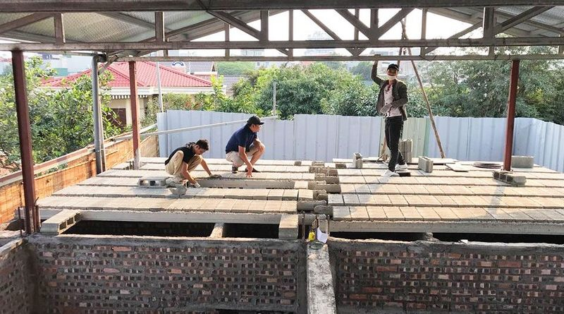 Nâng tầng nhà phố siêu đơn giản với sàn bê tông nhẹ, khung thép tiền chế tại nhà anh Lanh, Ba Đình, Hà Nội - 04