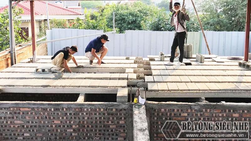 Nâng tầng nhà phố siêu đơn giản với sàn bê tông nhẹ, khung thép tiền chế tại nhà anh Lanh, Ba Đình, Hà Nội - 06