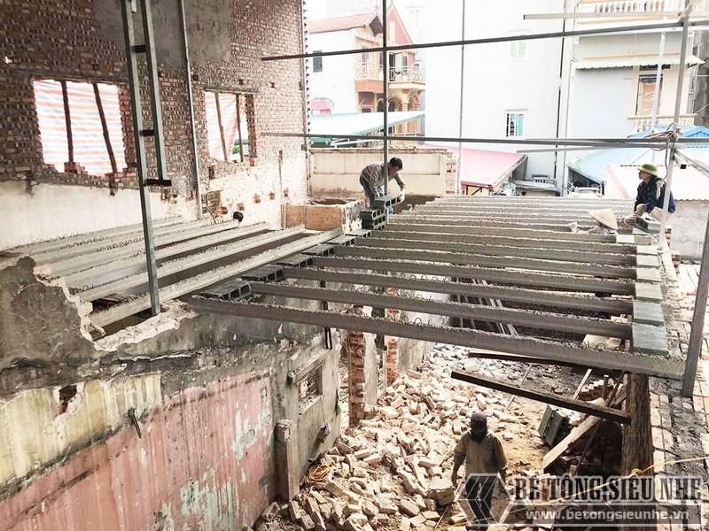 Cải tạo nhà giá rẻ bằng sàn bê tông nhẹ tại nhà anh Định, ngõ 2 Phạm Văn Đồng Hà Nội - 02