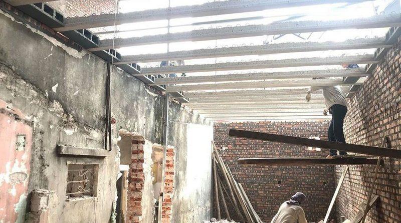 Cải tạo nhà giá rẻ bằng sàn bê tông nhẹ tại nhà anh Định, ngõ 2 Phạm Văn Đồng Hà Nội - 03
