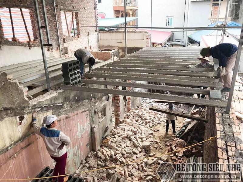 Cải tạo nhà giá rẻ bằng sàn bê tông nhẹ tại nhà anh Định, ngõ 2 Phạm Văn Đồng Hà Nội - 04