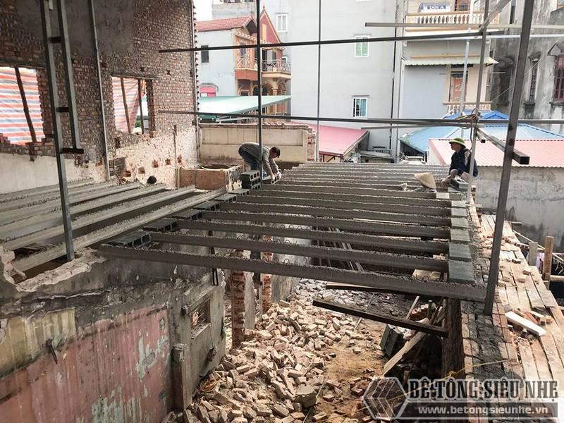 Cải tạo nhà giá rẻ bằng sàn bê tông nhẹ tại nhà anh Định, ngõ 2 Phạm Văn Đồng Hà Nội - 05