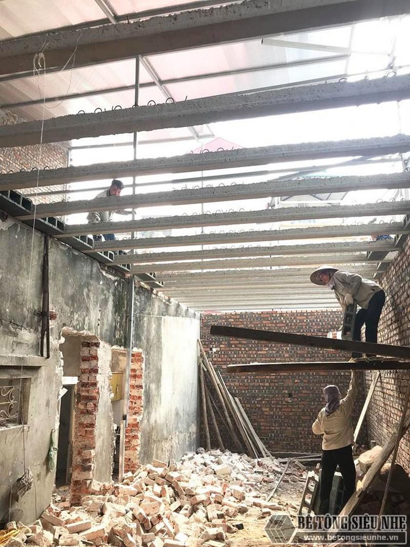 Cải tạo nhà giá rẻ bằng sàn bê tông nhẹ tại nhà anh Định, ngõ 2 Phạm Văn Đồng Hà Nội - 06